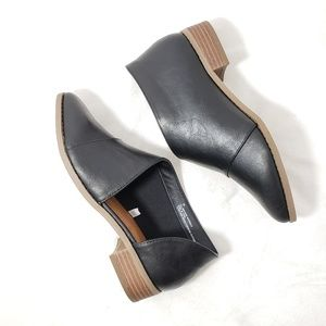 Universal thread black WIDE cut out booties